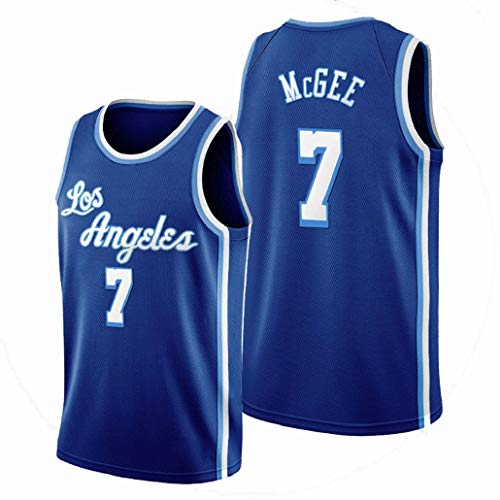 Auart # 7 JaVale McGee Jersey Los Angeles Lakers NBA Blau Jugend Herren-Fan im Freien Basketball Polyester Sport Sportbekleidung Weste (Color : Blue, Size : Xs)
