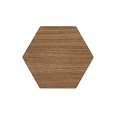 Epicurean 020-1311HEX4202 Hexagon Display/Serving Board, 13 by 11.25-Inches, Walnut/Slate, 13  x 11.25