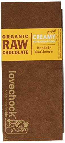 Lovechock Organic Raw Chocolate, Maulbeere, 4er Pack (4 x 70 g)