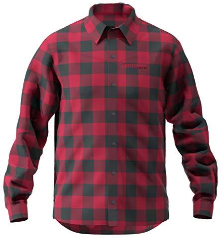Zimtstern Herren Timbaz Shirt Hemd, Jester Red/Pirate Black, XL