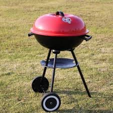 KoolGrill Portable 17 Inch Charcoal Grill Red Outdoor BBQ Cooking Oven