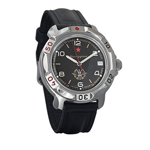 Vostok Komandirskie Classic - Reloj de pulsera militar mecánico para hombre #296