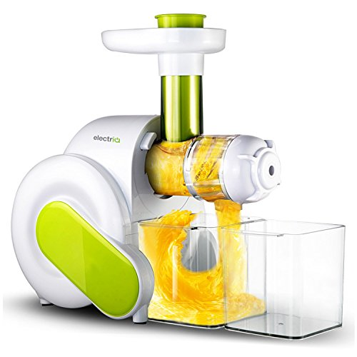 Slow Masticating Juicer - electriQ HSL600 Juicer Whole Fruit, Vegetable Extractor with Quiet Motor