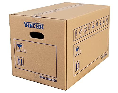 Vencede Paquete de 10 cajas + 1 caja de regalo extra 60x40x40CM. Cajas para mudanzas, envíos y almacenamiento de 95L. Más...