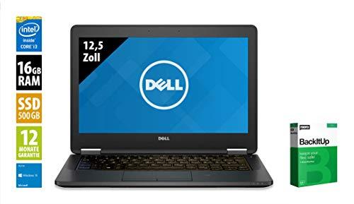 Dell Latitude E5270-12,5 Zoll - Core i3-6100U @ 2,3 GHz - 16GB RAM - 500GB SSD - WXGA (1366x768) - Win10Home (Zertifiziert und Generalüberholt)