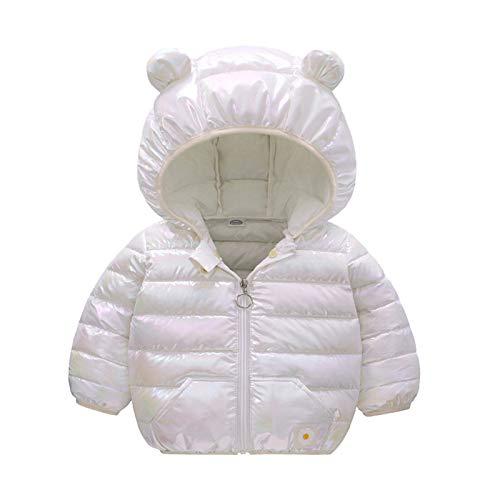 VESNIBA Chaqueta con capucha para recién nacido, bebé y niño, manga larga, con dibujos animados Blanco 80 cm