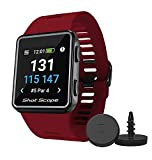 Shot Scope V3 GPS Watch - F/M/B + Hazard Distances - Automatic Shot Tracking - iOS and Android Apps - 100+ Statistics, Including Strokes Gained - 36,000+ Pre-Loaded Courses - No Subscriptions …
