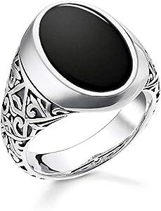 THOMAS SABO Unisex, Herren Ring 925 Sterlingsilber, Geschwärzt TR2242-698-11
