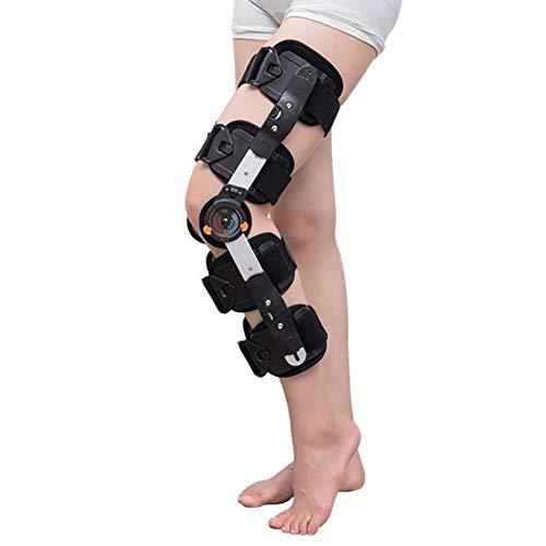 FACAZ Rodillera ROM con bisagras, inmovilizador de Rodilla para ACL, MCL y PCL, rehabilitación ortopédica, Apoyo estabilizador de recuperación postoperatoria para Hombres y Mujeres