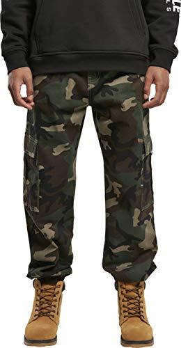 Southpole Cargo Pants Pantalón, Camo de Madera, 31 para Hombre