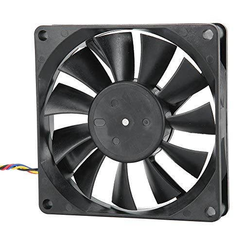 Dpofirs 8015 12V 0.50A 8CM 5300RMP Ventilador de Refrigeración para Caja de Computadoras, 41,3CFM 4 Pines Sistema de Enfriamiento con Ajuste de Velocidad de Viento PWM para PC, Enfriador PC