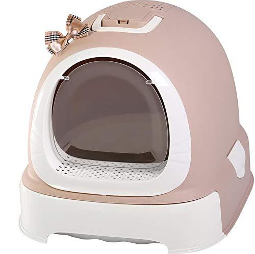 SXHASMZYXY Katzentoilette, Ultra selbstreinigende, geschlossene Schublade Katzentoilette Mit Kapuze Katzentopf Mülleimer Mülleimer Hygiene Geruchlose Katzenrassen,Brown