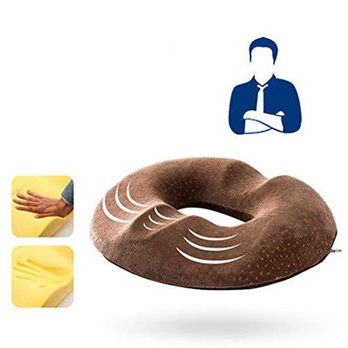 XYY Cuscino del Sedile della Schiuma di Memoria Ortopedica per la Sedia Car Office dei sedili per la Parte Inferiore dei sedili di Massaggio per la Formazione dei Glutei Sexy,Marrone,Men's