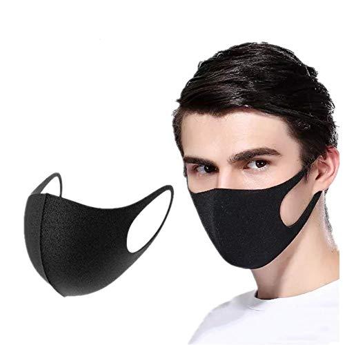 Cosanter 2 Stück Eis Seide Schutz Mundhöhle Wiederverwendbare Atmungsaktiver Schwarz