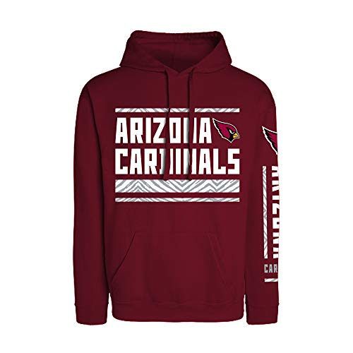 Zubaz Officially Licensed NFL Arizona Cardinals Hoodie with Zebra Sleeve Graphic, Maroon, X-Large, Team Color (981010)