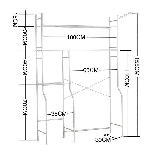 Multi-functionele badkamer opslag plank vloer staande Punch gratis rack geschikt voor over wc wasmachine planken Sundries opslag rack vloer type met buggy tas