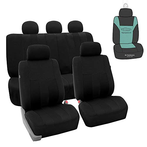 FH Group FB036115 Striking Striped Seat Covers (Black) Full Set with Gift - Universal Fit