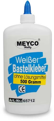 Weißer Bastelkleber à la Art-Attack von Meyco, 1000 g (Ökotest s