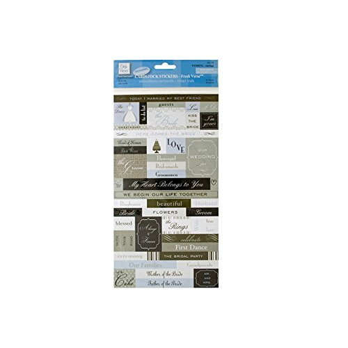 JT Scrapbooking JT-SB-CG677 Frischer Vers Hochzeitskarten-Aufkleber, 24 Stück