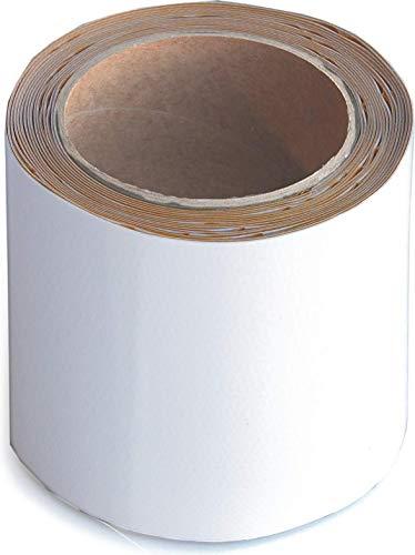 Wupsi Cinta de Reparación de PVC - para Lonas, Cubierta de Remolque, Invernadero, Toldo, Carpa, Tienda Campaña y Persianas - Blanco, 10 cm X 5 m
