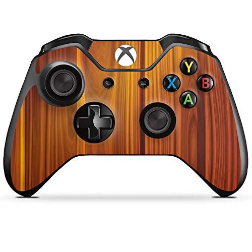DeinDesign Skin kompatibel mit Microsoft Xbox One Controller Folie Sticker Holzoptik Walnuss Holz