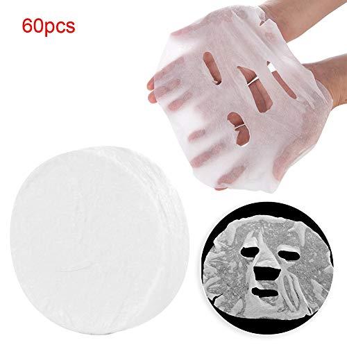 60-delig pakket vlies wegwerp huis gecomprimeerd masker vezels huidverzorging masker papier DIY gezichtsmasker gezicht katoen masker