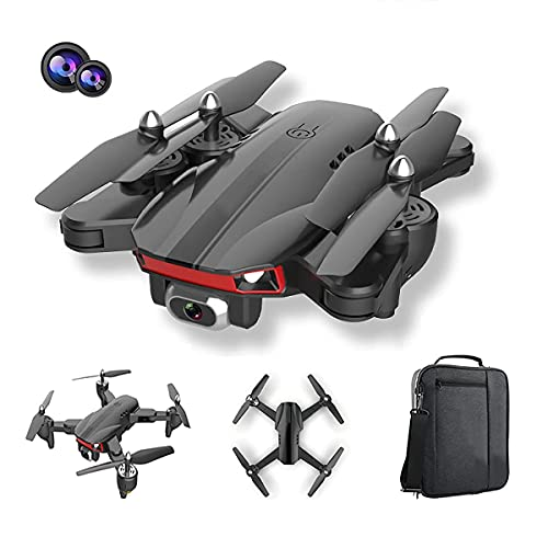 GZTYLQQ Dron con cámara Doble de 4k, dron Plegable para niños y Adultos, helicóptero de Cuatro Ejes Adecuado para Principiantes, retención de Altura, sígueme, niño niña y Juguete de Control