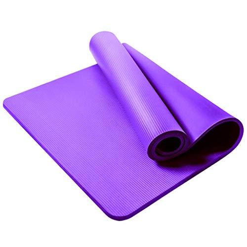 Andouy Komfort-Gymnastikmatte Yogamatte Hautfreundliche Fitnessmatte in 180X61X1,5CM mit Tragegurt Phtalatfrei - Sportmatte für Yoga Pilates und Bodenübung(180X61X1.5CM.Lila)