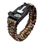 Tresser Bracelets De Survie, Kits De Paracorde De Survie Avec Boussole, Sifflet, Grattoir Et Silex, Bracelet...