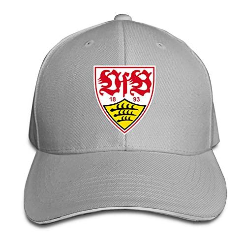 Aiier V-Fb STU-Ttgart Logo Curved Brim Cap Printed Baseball Cap Sun Visor Travel Cap Sandwich Cap Adjustable Trucker Hat Gr. One size, grau