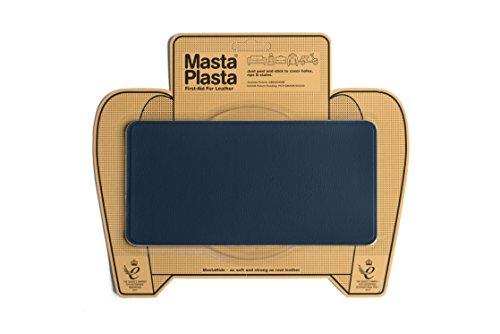 MastaPlasta - Toppa AUTOADESIVA per la riparazioni di Pelle Blu Marino. Premium. Segli: Dimensioni/Design. Pronto Soccorso per divani, sedili Auto, Borse, Giacche