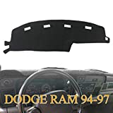 Dash Cover Dashboard Cover Mat Pad for Dodge Ram 1994 1995 1996 1997 (94-97 Black) Y45