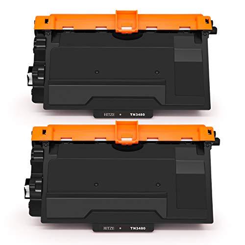 Hitze 2 Pack compatibele tonercartridge TN3480 TN-3480 vervanging voor Brother HL-L6400DW HL-L5100DN HL-L5000D HL-L6300DW MFC-L6800DW MFC-L6900DW HL-L5200DW DCP-L6600DW MFC-L5750DW MFC-L5700DN