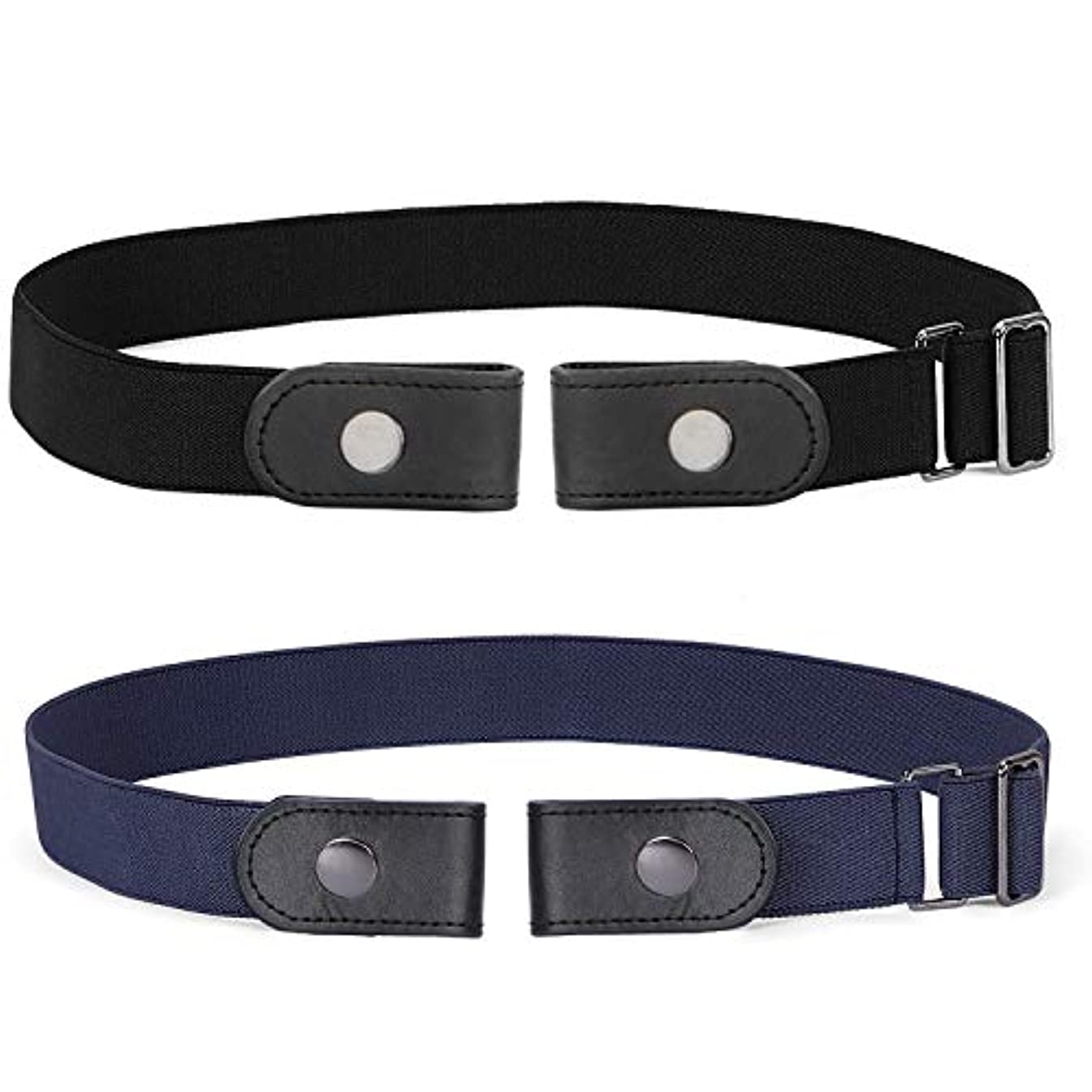 No Buckle Invisible Elastic Belt for Men/Women, SANSTHS Women Jeans Belt Free Buckle