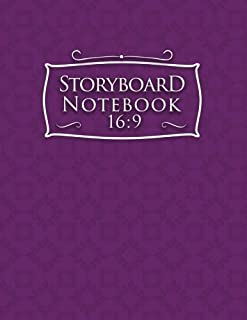 Storyboard Notebook 16:9: Storyboarding Paper : 4 Panel / Frame with Narration Lines, To Assist the Creative Process - Plain Purple (Volume 66)