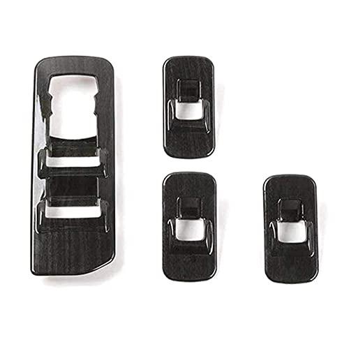 Huajin NewCar Black Wood Grain Window Lift Switch Switch Kit Fit para Ford F150 2015-2019