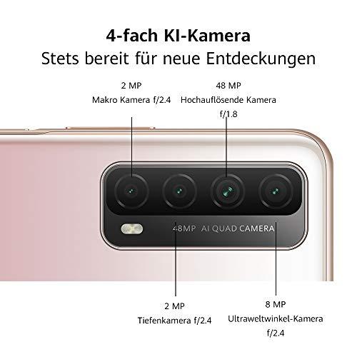 HUAWEI P smart 2021 Dual SIM Smartphone (16,94 cm - 6,67 Zoll, 128 GB interner Speicher, 4 GB RAM, Android 10 AOSP ohne Google Play Store, EMUI 10.1) crush green + 5 EUR Amazon Gutschein - 6