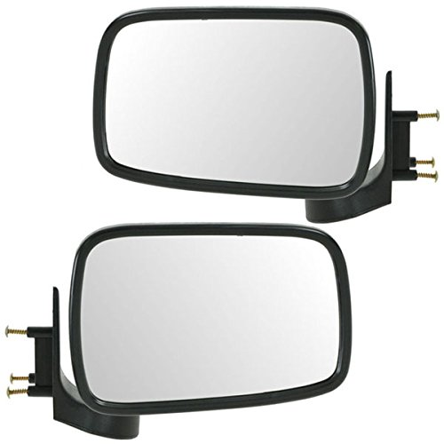 Partomotive For 86-93 Mazda Pickup Truck Chrome Manual Rear View Mirror Left Right Side SET PAIR