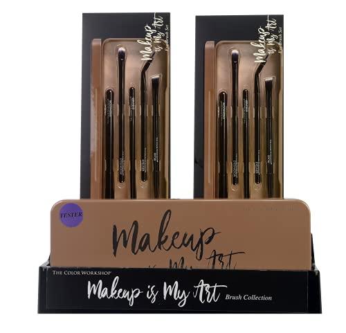 Markwins Essentials Makeup is My Art - Set de Brochas de Maquillaje de Ojos - Paleta con una Selección de Brochas Profesionales de Maquillaje - California Collection - Kit de Maquillaje Profes