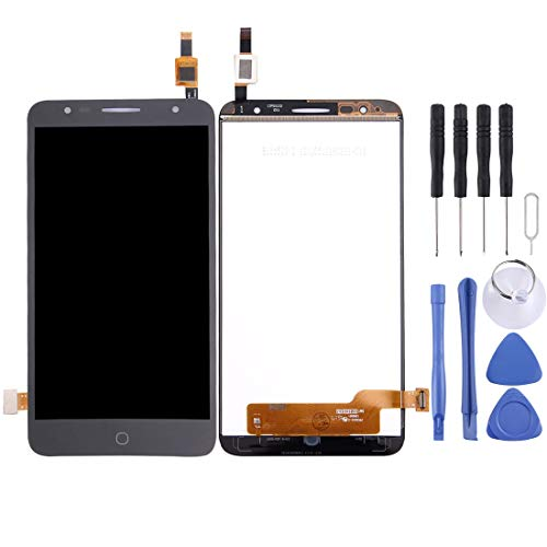 PENGCHUAN Partes de reparación de teléfonos móviles For Alcatel Pop 4 Plus / 5056 / 5056E / 5056T / 5056A / 5056D Pantalla LCD Ensamblaje de Pantalla táctil digitalizador (Color : Black)