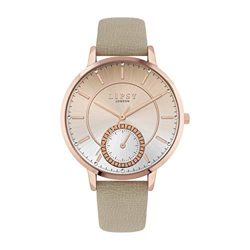 Lipsy Damen Analog Quarz Uhr mit PU Armband LP708
