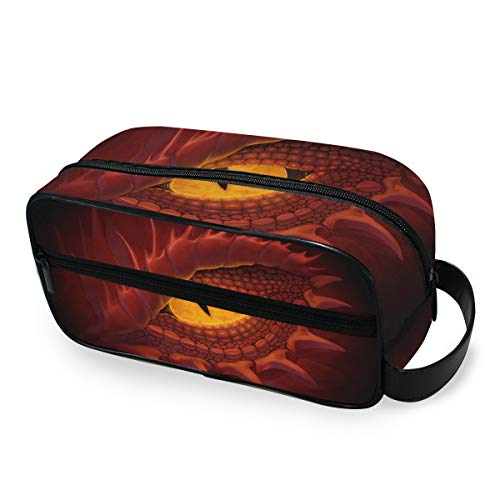 Outils de sac à main cosmétique train cas voyage portable dragon yeux stockage sac de maquillage trousse de toilette