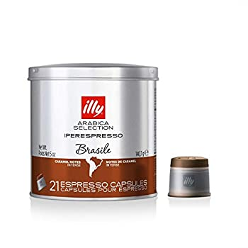 Illy Caffe Arabica Selection Brazil Iperespresso Coffee Capsules 21 Count  Pack of 1