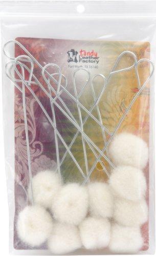 "Price comparison product image Tandy Leather Wool Daubers Regular 1"" (2.5 cm) 10 / pk 3445-00"