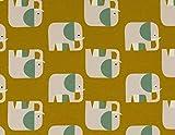Jersey-Stoff Elefanten gelb - HEM130 - Öko-Tex Standard