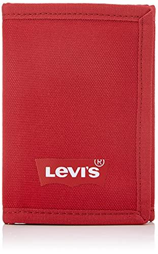 Levi's Batwing Trifold Wallet, Accesorio de Viaje-Billetera Plegable Triple para Hombre, Red Normal, UN