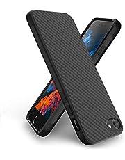 Syncwire skal kompatibel med iPhone 8 iPhone 7, S-Matrix serien mobiltelefonskal [geometrisk kolfiberdesign] silikonskal, stöttåligt skyddsfodral