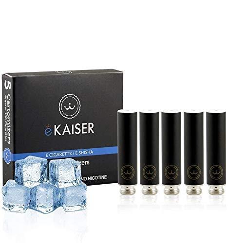 E-Zigarette - E-Liquid 5er Pack Schwarz Cartomizer - Menthol - E-Shisha - für eKaiser Wiederaufladbar E-Shisha Zigarette