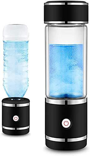XXGJK YRBDSA Neue SPE & PEM 300 Ml Hohe H2 Und ORP Wasserstoff Generator Wasser Ionisator Flasche Mit Japan Elektrolyse Technologie,Schwarz