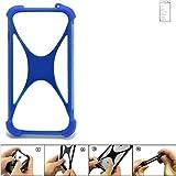 K-S-Trade® Handyhülle Für Doogee Y6 MAX Silikon Schutz Hülle Cover Case Bumper Silikoncase TPU Softcase Schutzhülle Smartphone Stoßschutz, Blau (1x),